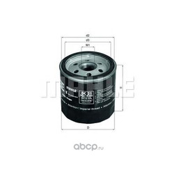 Масляный фильтр (Mahle/Knecht) OC21OF