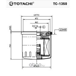 Масляный фильтр (TOTACHI) TC1350