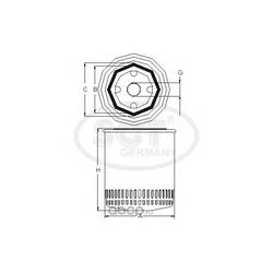 Фильтр масляный (SCT) SM168