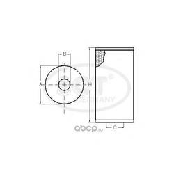 Масляный фильтр (SCT) SH425P