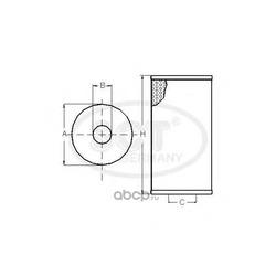 Масляный фильтр (SCT) SH424P