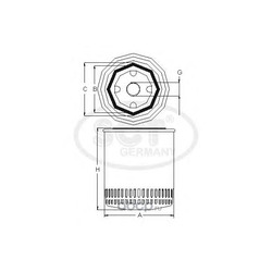 Фильтр масляный (SCT) SM119