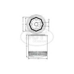 Масляный фильтр (SCT) SM124