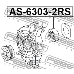 Подшипник генератора передний (Febest) AS63032RS