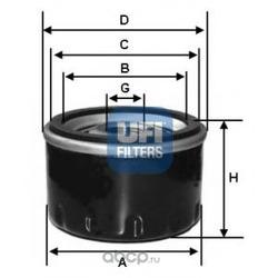 Масляный фильтр (UFI) 2321000