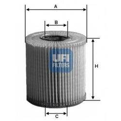 Масляный фильтр (UFI) 2500800