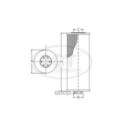 Масляный фильтр (SCT) SH4044P