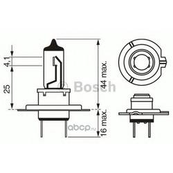 Лампа накаливания H7 (PX26d), 12В 55Вт, Longlife Daytime (Bosch) 1987302078