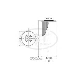 Масляный фильтр (SCT) SH4725P