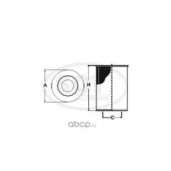 Масляный фильтр (SCT) SH4789P