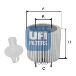 Масляный фильтр (UFI) 2511600