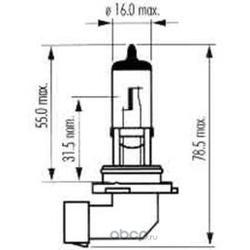 Лампа накаливания, фара дальнего света (SCT) 202594