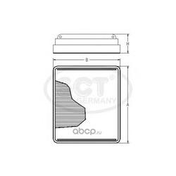 Фильтр салона (SCT) SA1100