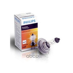 Лампа накаливания H7 (PX26d), 12В 55Вт, Premium Vision +30% (Philips) 12972PRC1