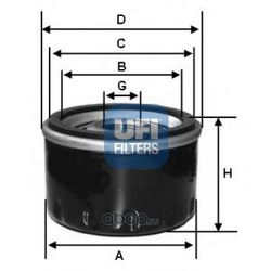 Масляный фильтр (UFI) 2324300