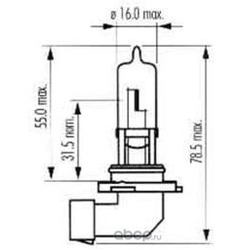 Лампа накаливания, фара дальнего света (SCT) 202570