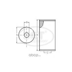 Масляный фильтр (SCT) SH4050P