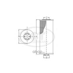 Масляный фильтр (SCT) SH4046P
