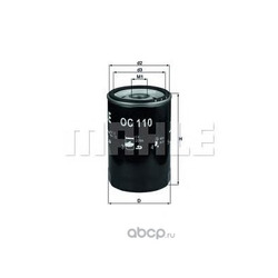 Масляный фильтр (Mahle/Knecht) OC110OF