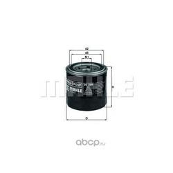 Масляный фильтр (Mahle/Knecht) OC500