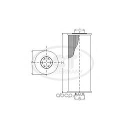 Масляный фильтр (SCT) SH4784P