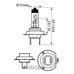 Лампа накаливания, фара дальнего света (Philips) 12972PRBW