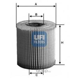 Масляный фильтр (UFI) 2502900