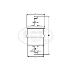 Топливный фильтр (SCT) ST487