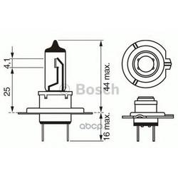 """Лампа галоген"""" Trucklight H7"""" 24В 70Вт (Bosch) 1987302471"""