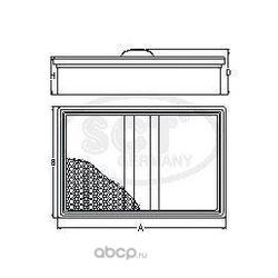 Воздушный фильтр (SCT) SB2051