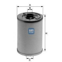 Топливный фильтр (UFI) 2106100