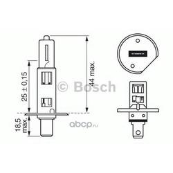 Лампа PLUS 50 H1 12V 55W (Bosch) 1987302019