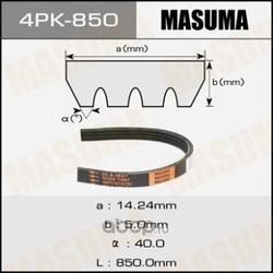 Ремень привода навесного оборудования (Masuma) 4PK850