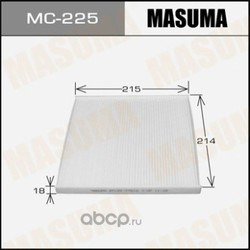 Фильтр салонный (Masuma) MC225E
