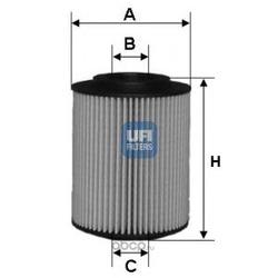 Масляный фильтр (UFI) 2507200