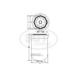 Топливный фильтр (SCT) ST324