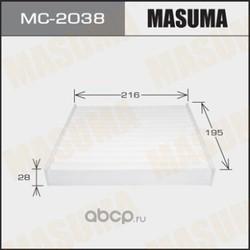 Фильтр салонный (Masuma) MC2038