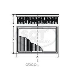 Фильтр воздушный (SCT) SB085
