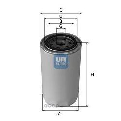 Масляный фильтр (UFI) 2313002