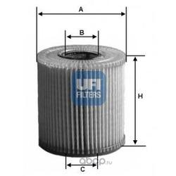 Масляный фильтр (UFI) 2500400