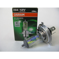 """Лампа накаливания, """"ALLSEASON H4"""" 12В 60/55Вт, 1шт (Osram) 64193ALS"""