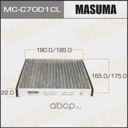 Фильтр салона! угольный Fiat Sedici 1.6/1.9D 06, Suzuki Swift 1.3DDiS/SX4 1.5 06 (Masuma) MCC7001CL