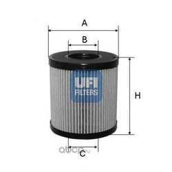 Масляный фильтр (UFI) 2506000