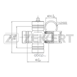 Крестовина карданного вала 26 5x70 4 Kia Sportage 98- Mazda B-serie III 90- B-serie IV 99- (Zekkert) KG1044