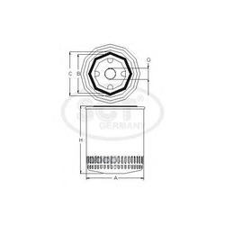 Фильтр масляный (SCT) SM120