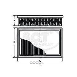 Фильтр воздушный (SCT) SB2014