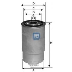 Топливный фильтр (UFI) 2435100
