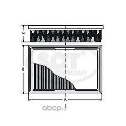 Фильтр воздушный (SCT) SB994