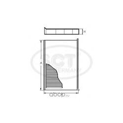 Фильтр салона (SCT) SA1115