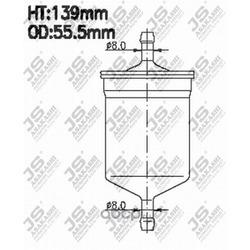 Фильтр топливный (JS Asakashi) FS2022